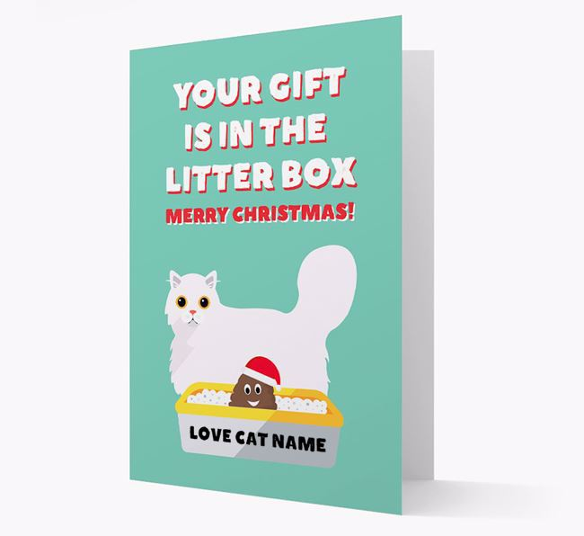 'Litter Box Gift' - Personalised Cat Card