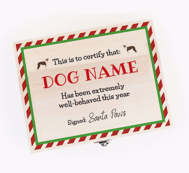 'Certificate' - Personalised Greyhound Christmas Eve Box