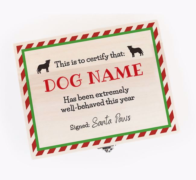 'Certificate' - Personalised Dog Christmas Eve Box
