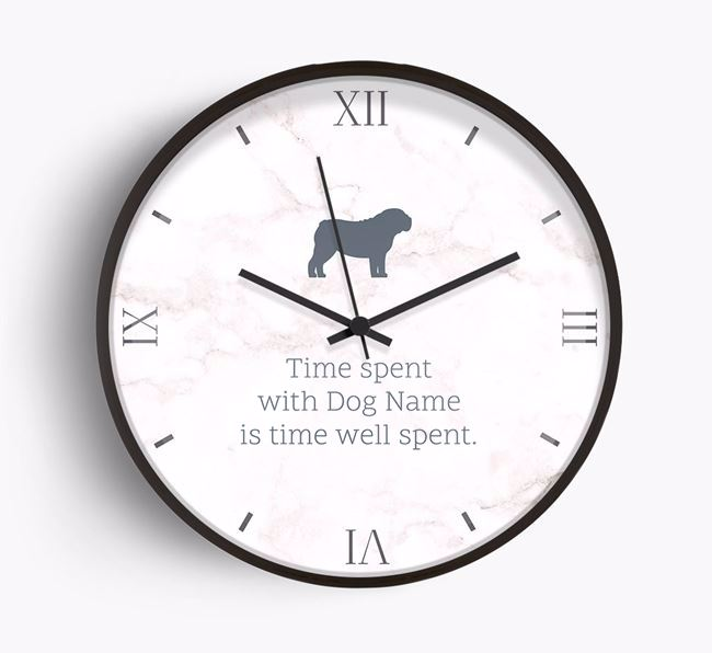 'Time spent with Your Dog is time well spent.' Beech Wall Clock