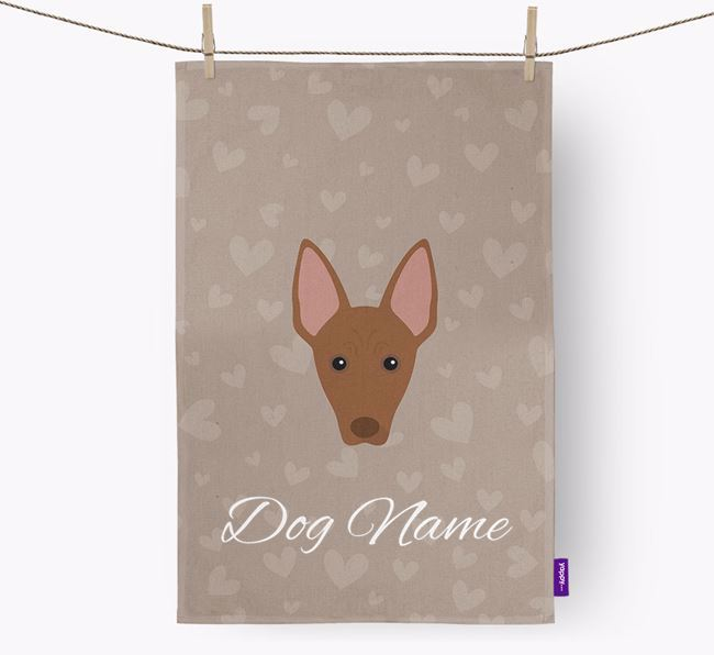 Personalised Mexican Hairless Hearts Dish Towel