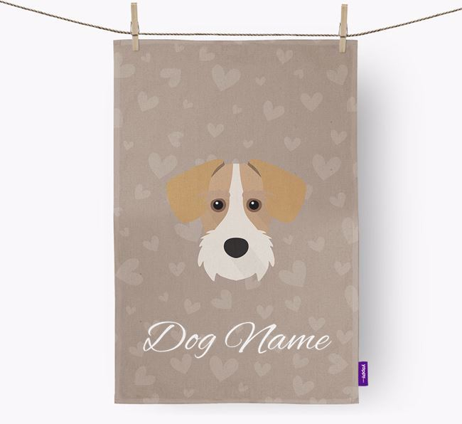 Personalised Schnoxie Hearts Dish Towel
