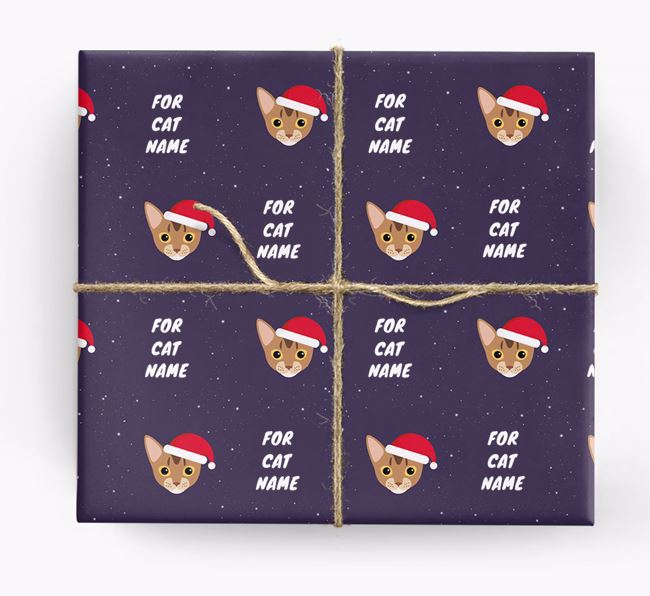 'Christmas Wrapping Paper' - Personalised Wrapping Paper for Your Cat