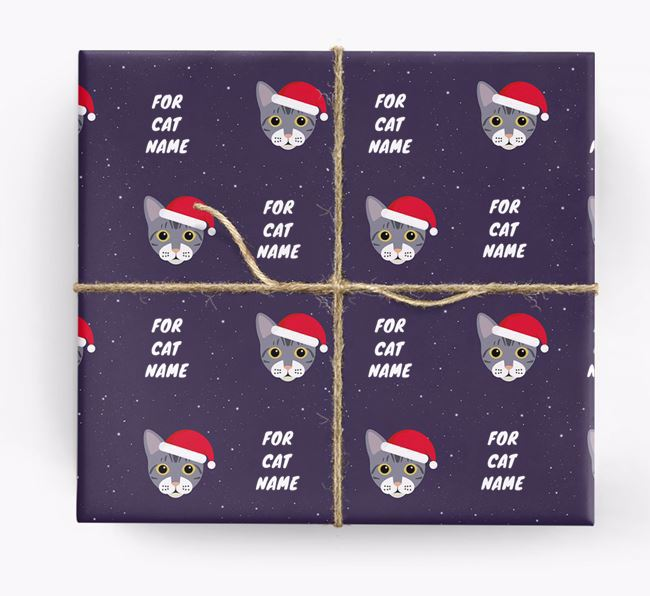 'Christmas Wrapping Paper' - Personalised Wrapping Paper for Your Bengal