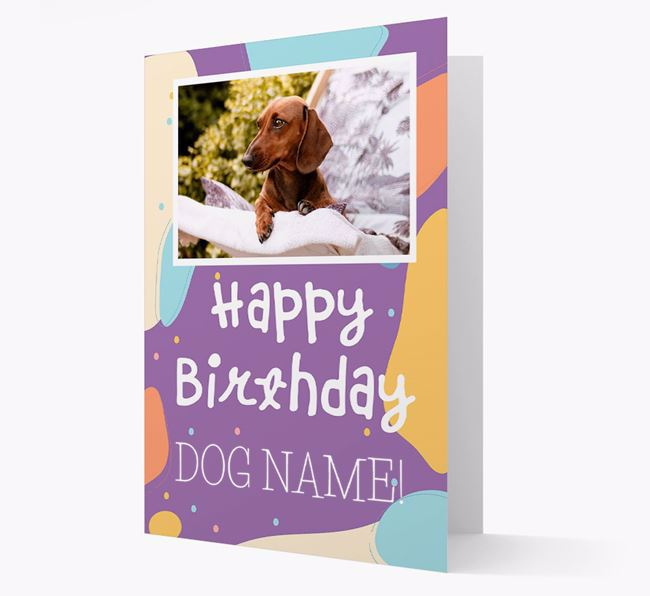 'Happy Birthday' - Personalised Dog Card