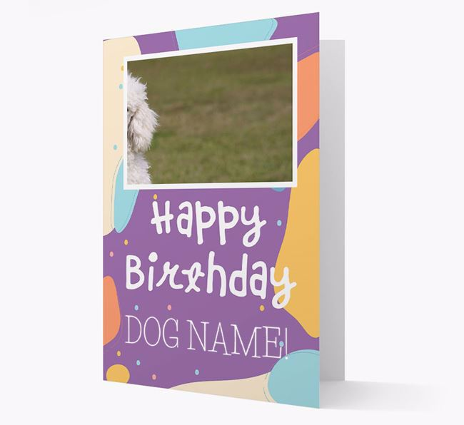'Happy Birthday' - Personalised Poodle Card