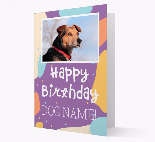 'Happy Birthday' - Personalized Schnoodle Card