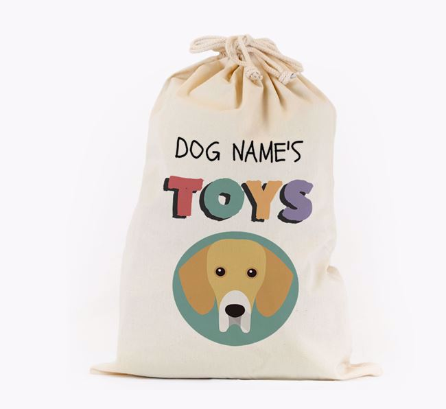 Toy Sack 'Your Dog's Toys' - Personalised for your Bassador