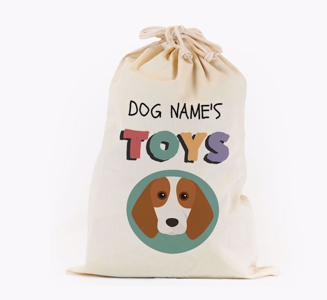 Toy Sack 'Your Dog's Toys' - Personalised for your Beagle