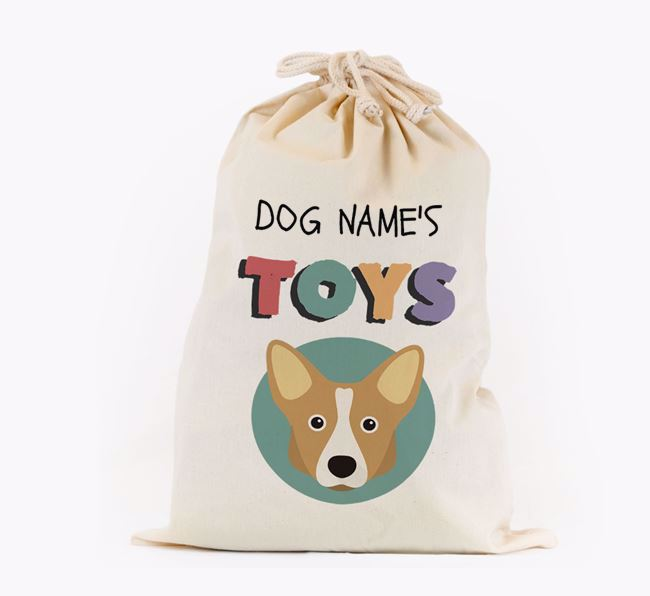 Toy Sack 'Your Dog's Toys' - Personalised for your Corgi
