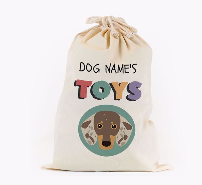 Toy Sack 'Your Dog's Toys' - Personalised for your Dachshund
