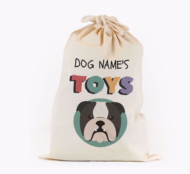 Toy Sack 'Your Dog's Toys' - Personalised for your English Bulldog