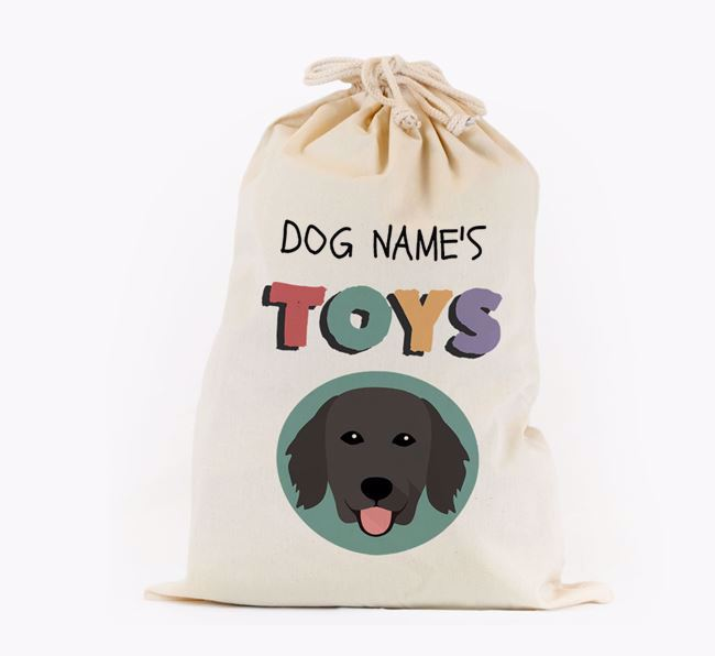 Toy Sack 'Your Dog's Toys' - Personalised for your Flat-Coated Retriever