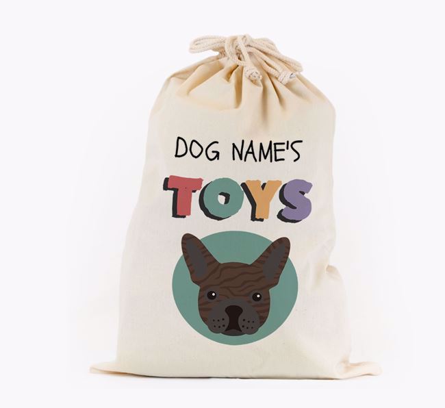 Toy Sack 'Your Dog's Toys' - Personalised for your French Bulldog