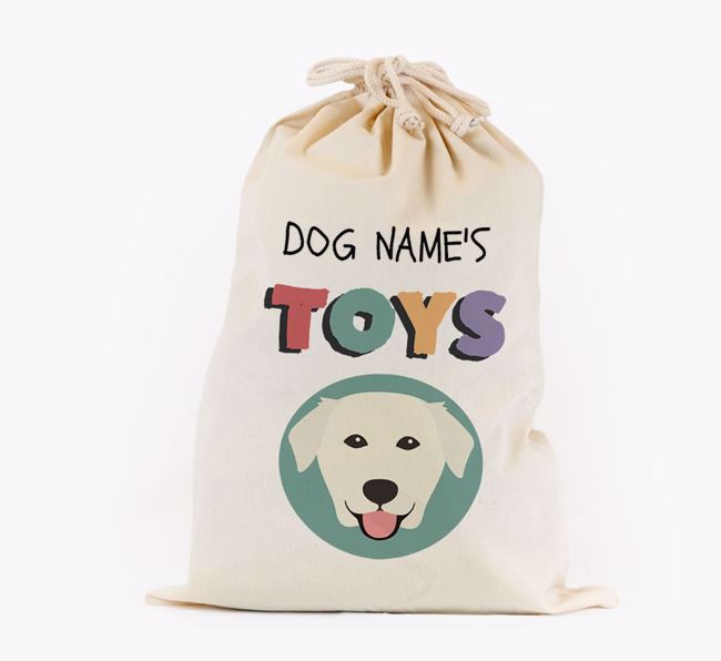 Toy Sack 'Your Dog's Toys' - Personalised for your Golden Labrador