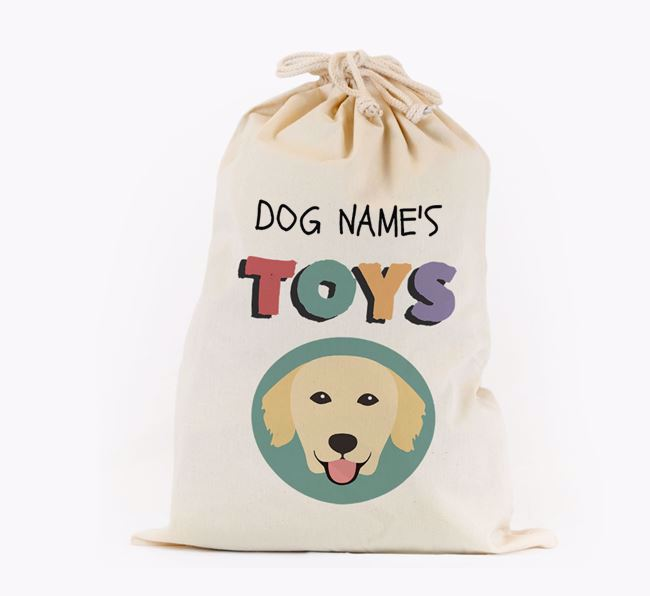 Toy Sack 'Your Dog's Toys' - Personalised for your Golden Retriever