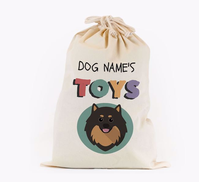 Toy Sack 'Your Dog's Toys' - Personalised for your Pomeranian