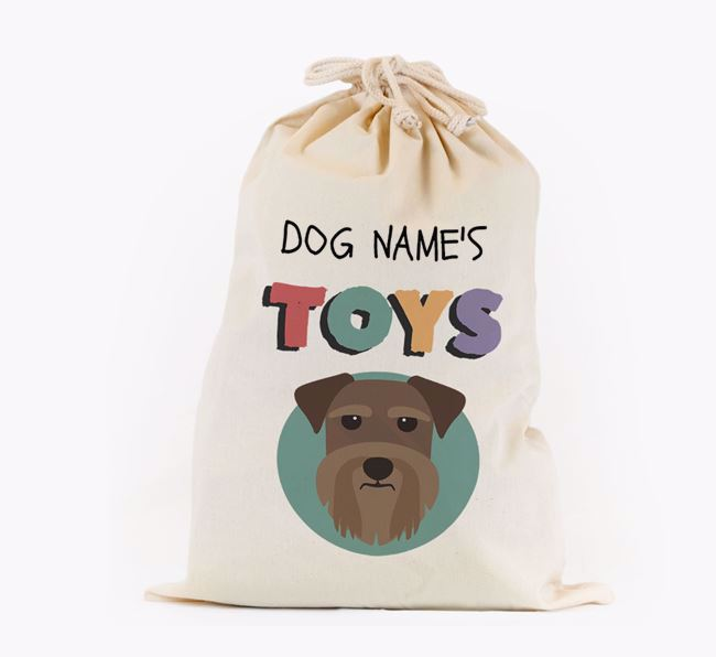 Toy Sack 'Your Dog's Toys' - Personalised for your Schnauzer