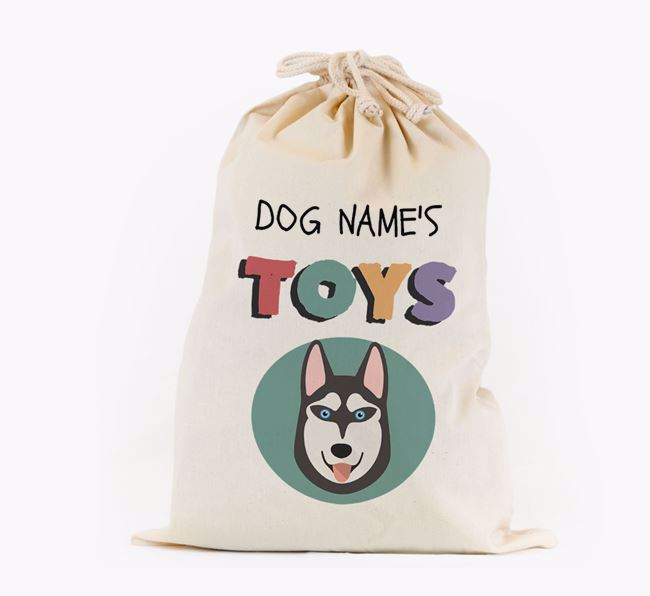 Toy Sack 'Your Dog's Toys' - Personalised for your Siberian Husky