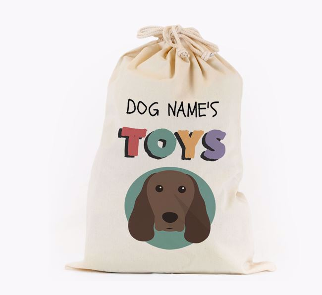 Toy Sack 'Your Dog's Toys' - Personalised for your Springer Spaniel