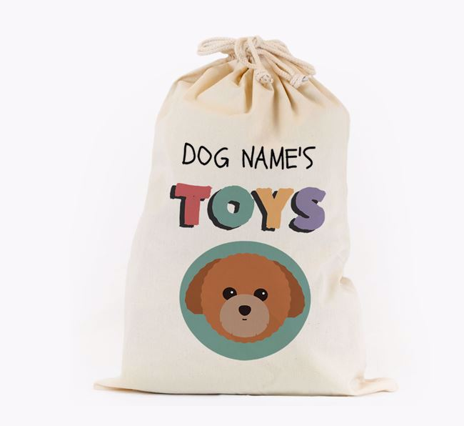 Toy Sack 'Your Dog's Toys' - Personalised for your Toy Poodle