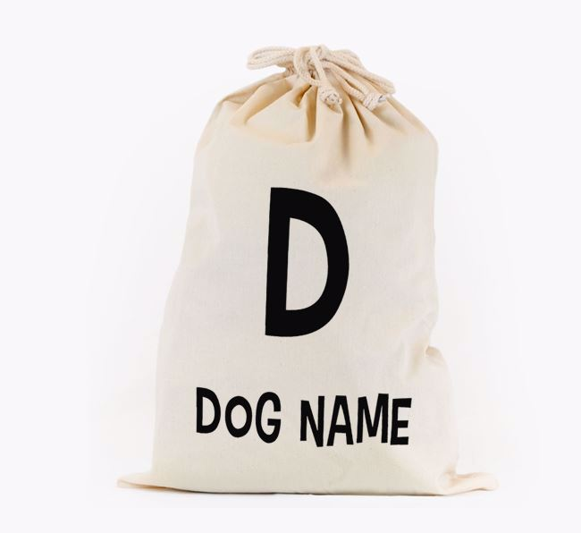 Toy Sack 'Initial' - Personalised for your Flat-Coated Retriever