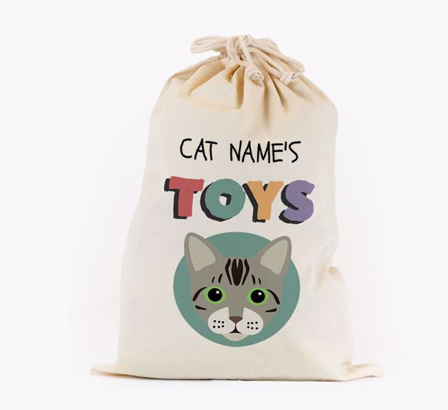 Toy Sack 'Your Cat's Toys' - Personalised for your Bengal