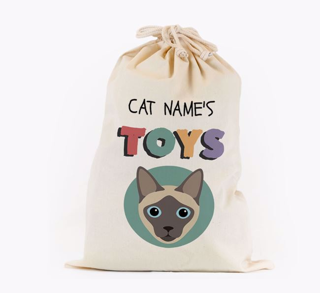 Toy Sack 'Your Cat's Toys' - Personalised for your Siamese