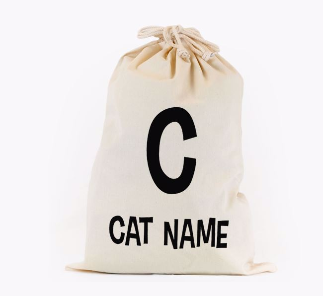 Toy Sack 'Initial' - Personalised for your Siamese