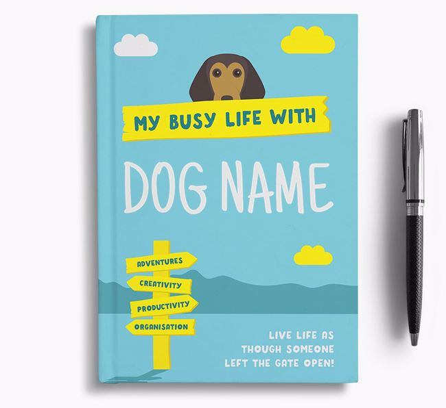 'My Busy Life' - Personalised Beagle Notebook