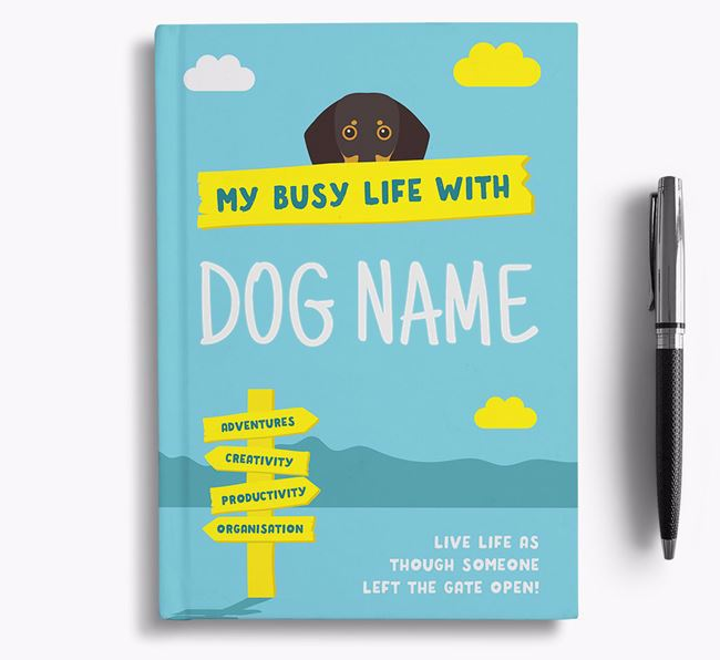 'My Busy Life' - Personalised Dog Notebook