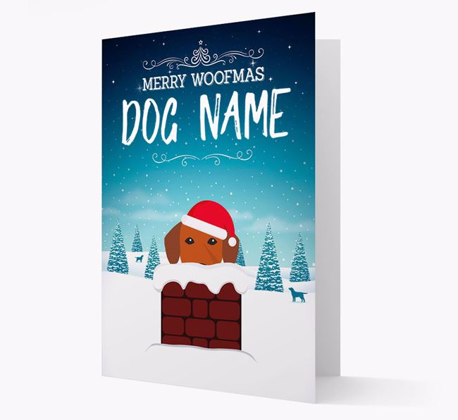 Personalised Merry Woofmas Your Dog Christmas Card