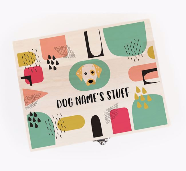 Personalised 'Dogs Stuff' Wooden Box for your Dalmatian