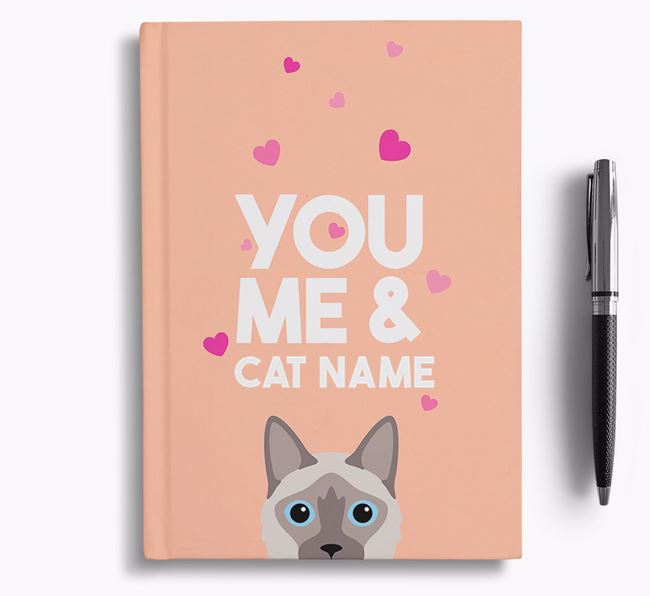 'You, Me and...' - Personalized Balinese Notebook