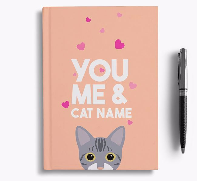 'You, Me and...' - Personalized Bengal Notebook