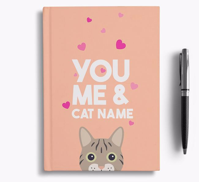 'You, Me and...' - Personalized Cat Notebook
