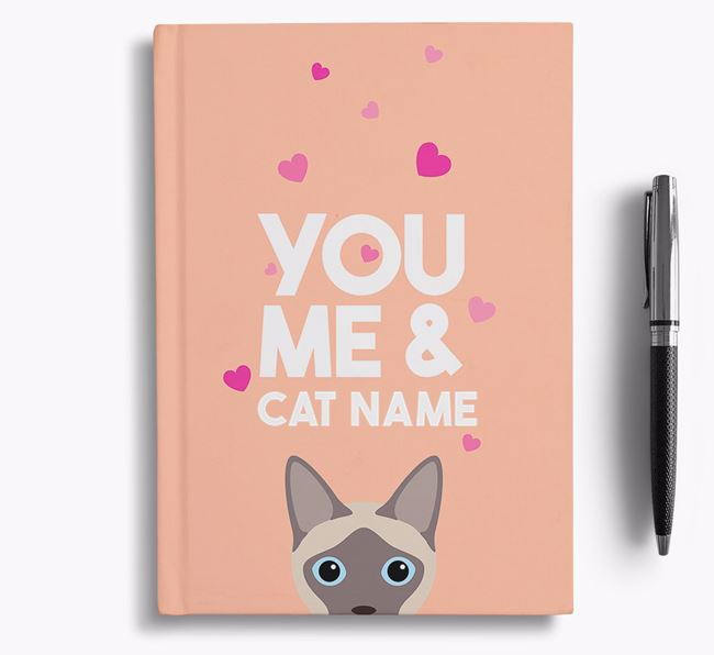 'You, Me and...' - Personalized Siamese Notebook
