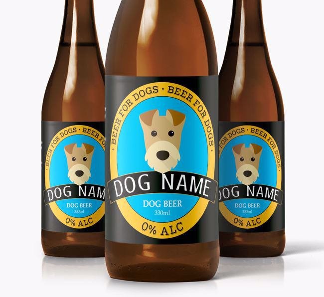 Personalised Airedale Beer For Your Dog