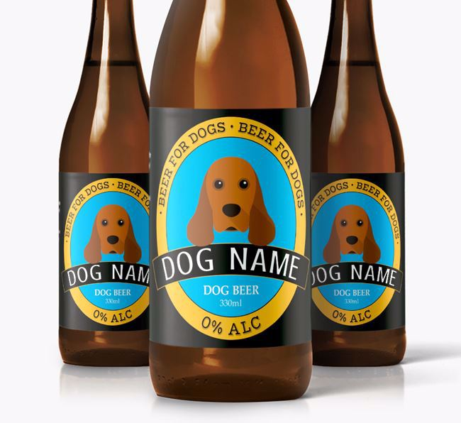 Personalised Spaniel Beer For Your Dog