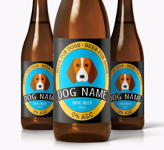 Personalised Beagle Beer For Your Dog
