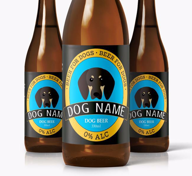 Personalised Coonhound Beer For Your Dog