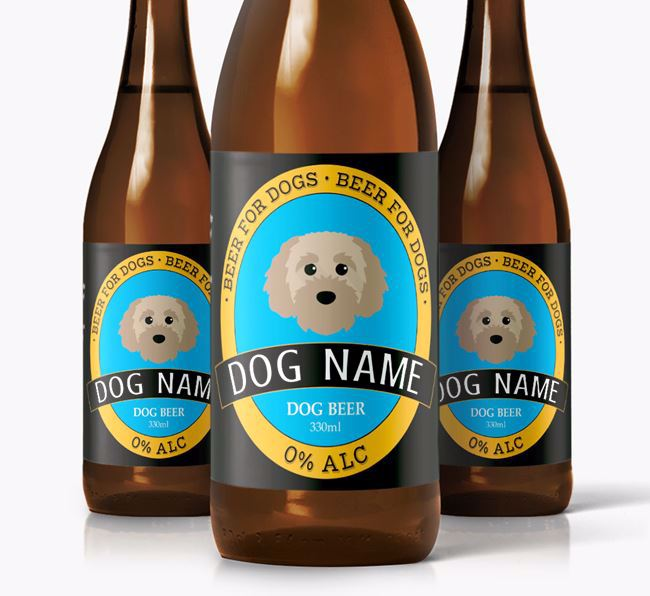 Personalised Cavapoochon Beer For Your Dog