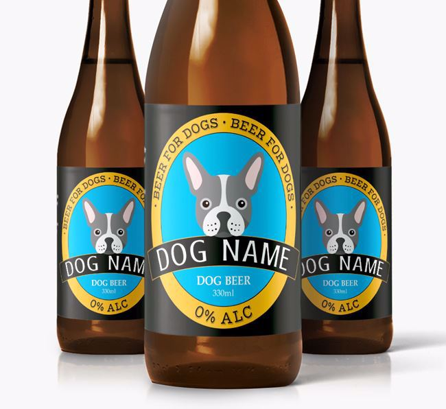 Personalised Frenchie Beer For Your Dog