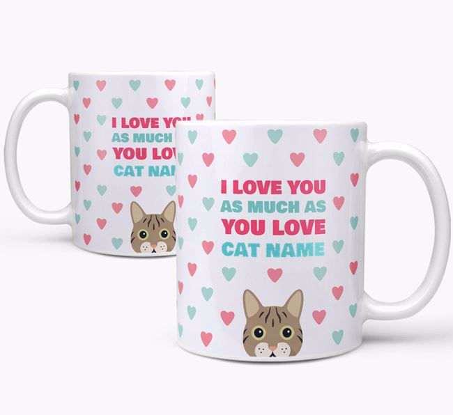 'I Love You as Much as You Love...' - Personalized Cat Mug