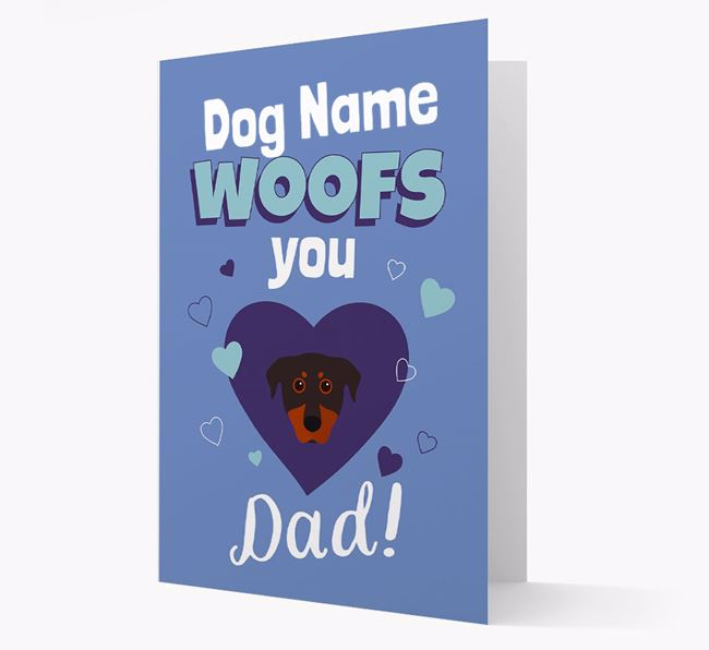 'I Woof You Dad' - Personalized Beauceron Card