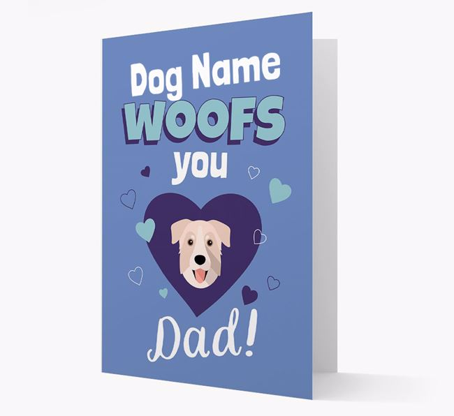'I Woof You Dad' - Personalized Chinook Card