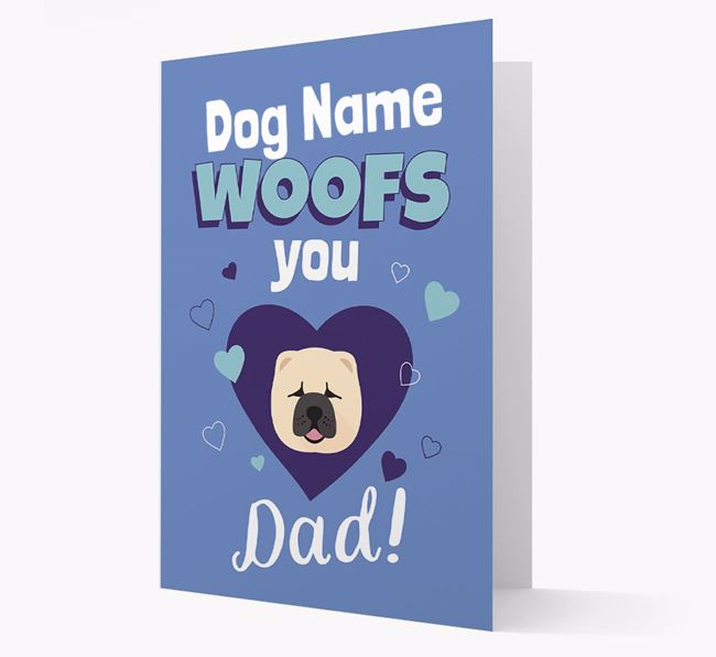 'I Woof You Dad' - Personalized Chow Chow Card