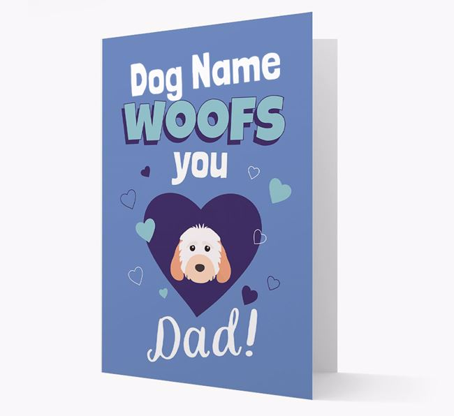 'I Woof You Dad' - Personalised Cockapoo Card