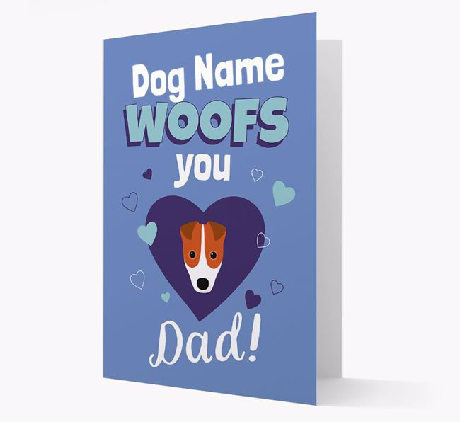 'I Woof You Dad' - Personalized Fox Terrier Card