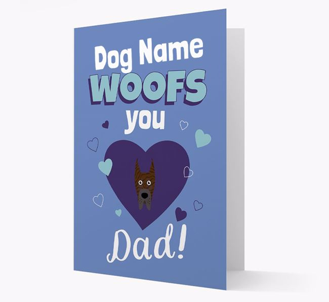 'I Woof You Dad' - Personalized Great Dane Card